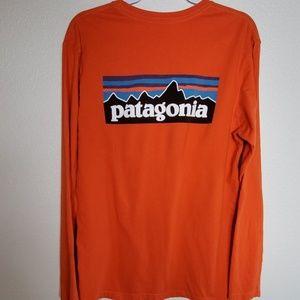 Patagonia Organic Cotton Logo Long Sleeve
